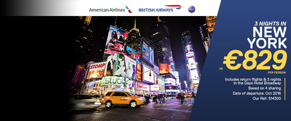 New York American Airlines & British Airways