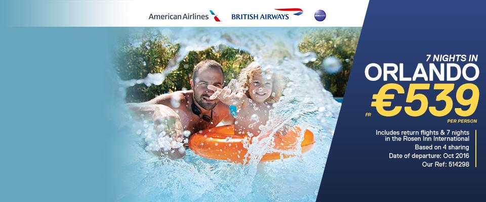 Orlando American Airlines & British Airways