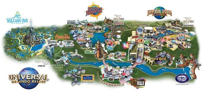 Universal Orlando Resort Map