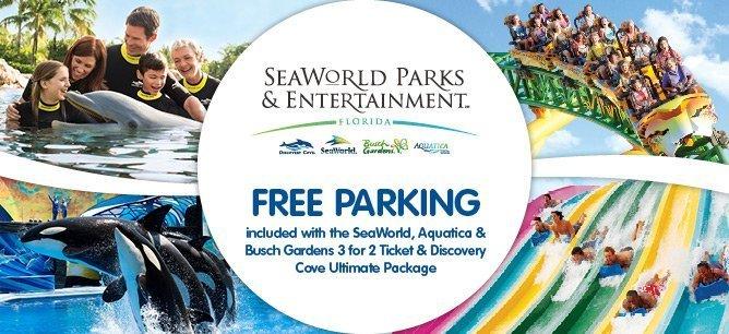 SeaWorld Free Parking