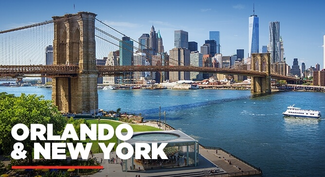 Orlando and New York