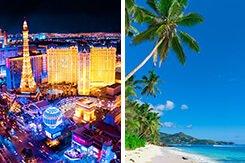 Las Vegas &<br> Cancun