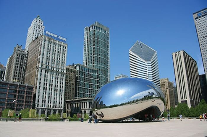 Cloud gate, the Bean, Chicago