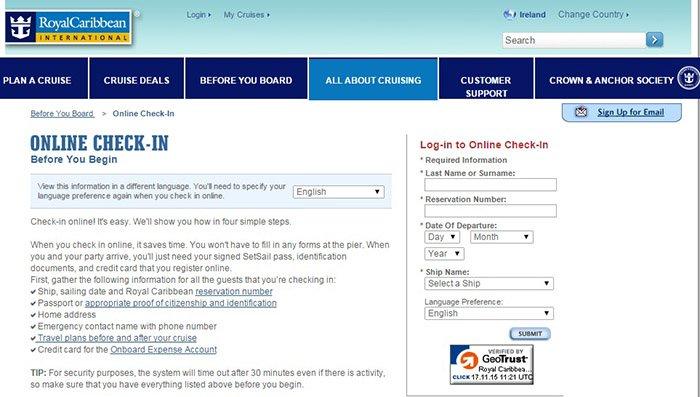 online-checkin-royal-caribbean