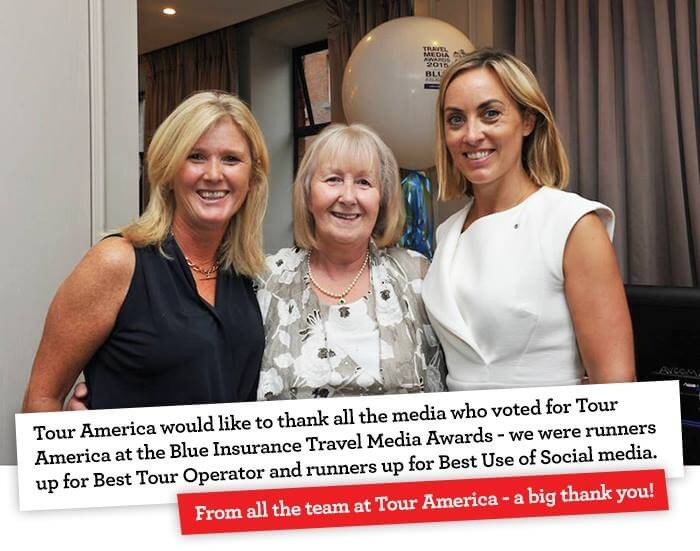 Tour America Runners Up at the Blue Insurance Travel Media Awards 2015