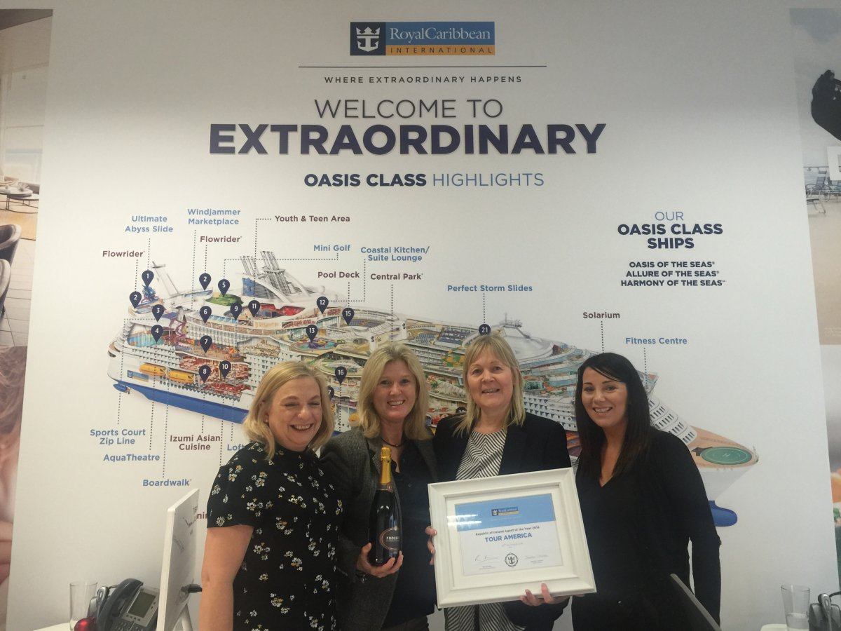Tour America scoops prestigious Royal Caribbean Award