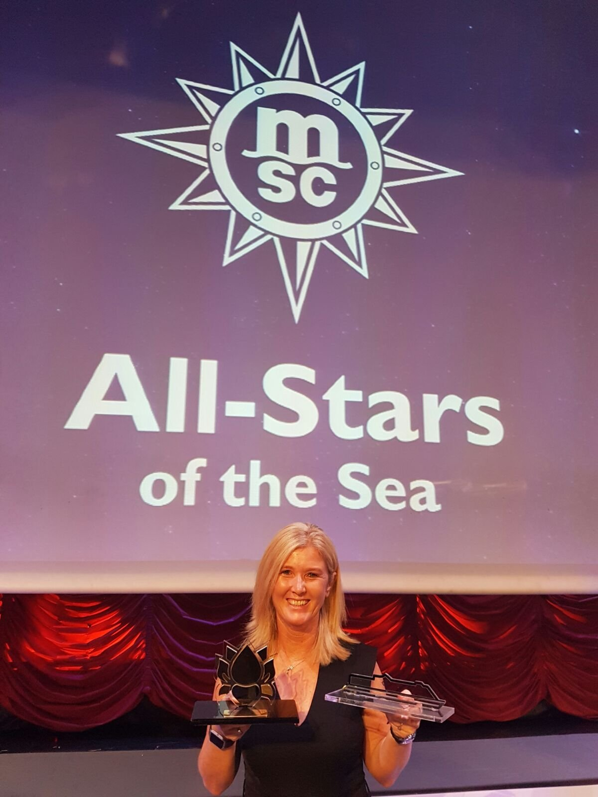 Tour America / Cruise Holidays wins Best MSC Yacht Club Performer Award.