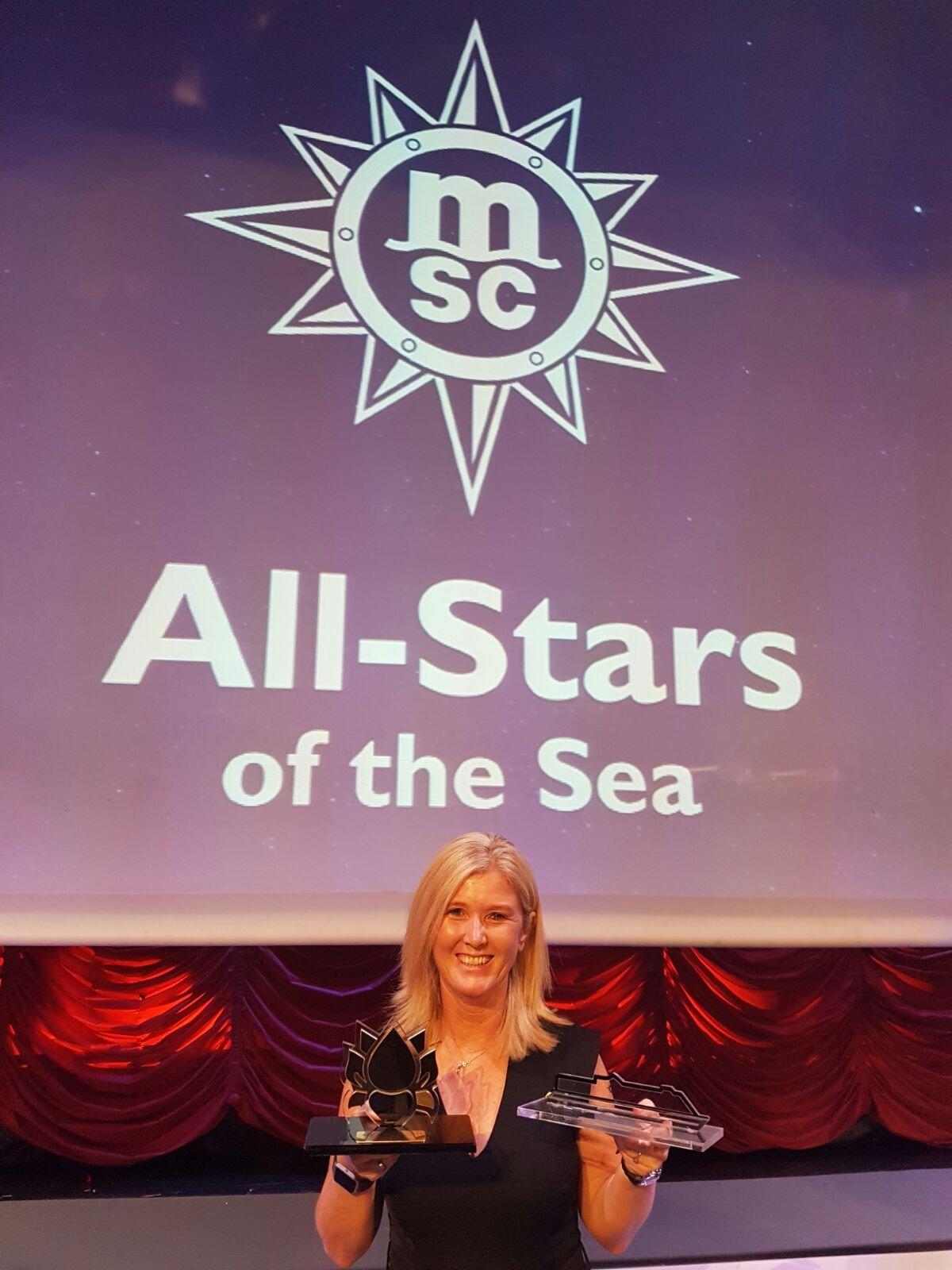 Tour America / Cruise Holidays wins Best MSC Yacht Club Performer Award.