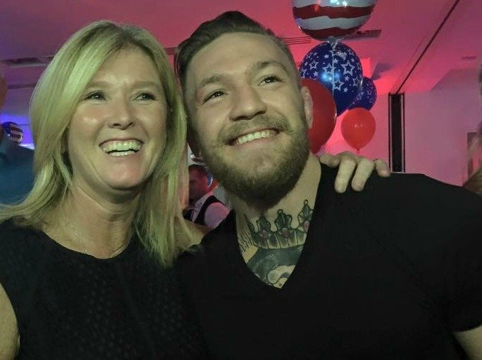Conor McGregor brings in the Tour America 20th Birthday Cake