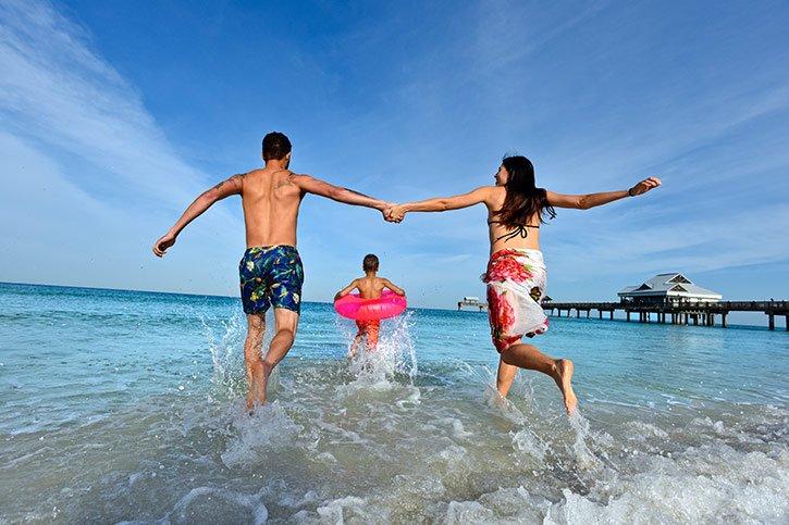 family-beach-florida