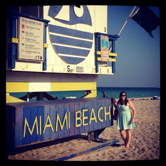 Kathleen soaking up the sunshine on Miami beach