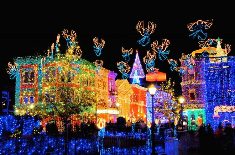 Christmas Lights Disney's Hollywood Studios