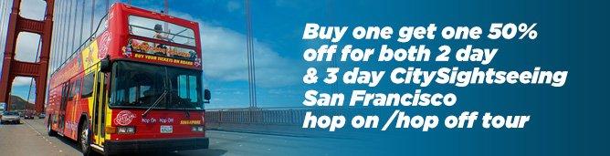 San Francisco Hop on Hop off special
